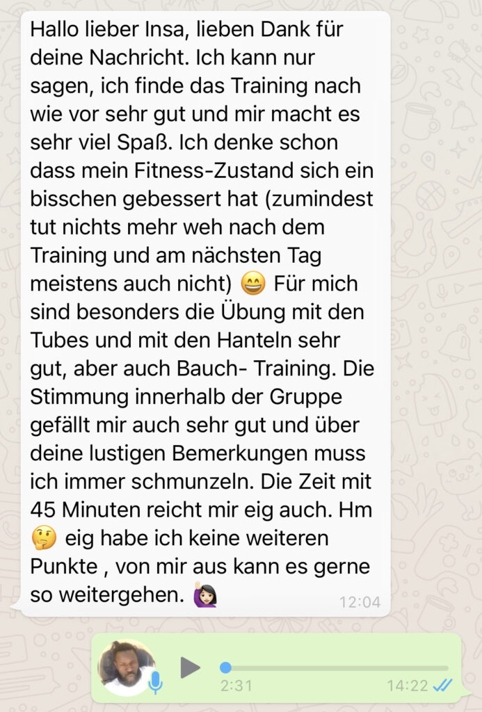 Bericht über personal trainer Frankfurt